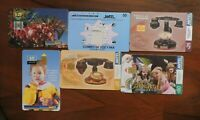 6 ASSORTED PHONECARDS FROM URUGUAY NO VALUE COLLECTORS ITEM. LOT 3