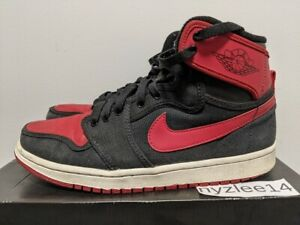 Nike Air Jordan 1 Retro KO HI 2012 Bred Black Red Mens 8.5 402297 001