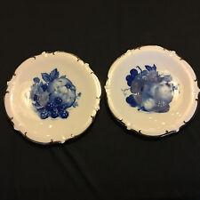 Pair of Schumann Azberg echt cobalt plates