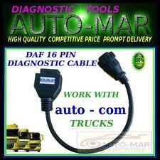 DAF Camión diagnóstico de cable de 16 pines del conector Autocom, Delphi, Wurth, Eclipse