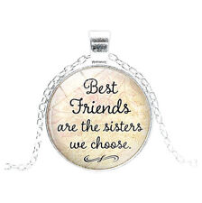 Women's  ''Best Friends Are The Sisters We Choose '' Friendship Pendant Necklace