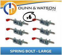 Large Spring / Shoot Bolt x 6 (Caravan, Trailer Camper, Motor home, Horse Float)
