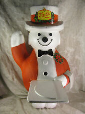 Vintage Strohs Beer Styrofoam Holiday Snowman Store Display