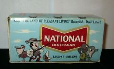 Boxed Set of 3 Boxes VINTAGE NATIONAL BOHEMIAN LIGHT BEER ADVERTISING MATCHES