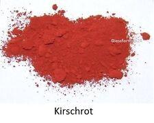 Oxidfarbe Pigment 1kg - Oxidpigment für Betonmasse, Putz, Gips Farbe : Kirschrot