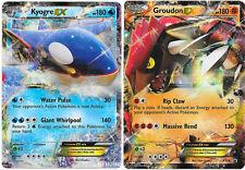 Groudon & Kyogre Legendary Duo EX Ultra Rare Holo Pokemon Card Promo XY41 XY42