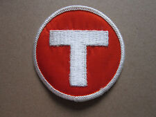 Letter T Woven Cloth Patch Badge (L1K)