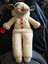 "SHARI LEWIS Stuffed Plush LAMBCHOP Lamb Chop 1992 16"" Full Body Hand PUPPET EUC"