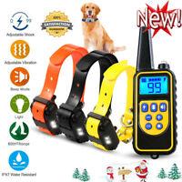 2600FT Pet Dog Training Shock Collar Rechargeable Trainer Waterproof Anti Bark