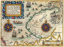 ART PRINT POSTER MAP OLD DE BRY VEER NOVA ZEMBLA NORTHEAST PASSAGE NOFL0679