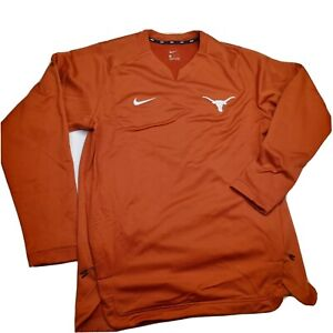 Nike Texas Longhorns Long Sleeve Pullover Shirt On Field Men's Ss L Without Tags