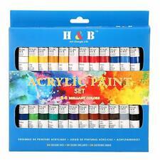 Acrylic Paint Set by Color Technik, Professional Artist Quality, Palette Include