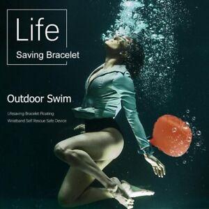 Anti-Drowning Lifesaving Bracelet Rescue Device Floating Wristband Wearable Swim