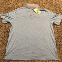 island republic Polo Shirt Mens L Light Blue NWT A31