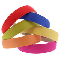 Satin Covered Quality Headbands Hard Colorful Girl's 1 Inch Band Hair Accessory