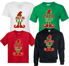 Christmas FAMILY ELF SHIRTS BLACK family vacation matching  TShirts