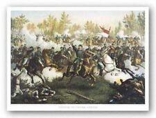 Battle of Cedar Creek Louis Kurz and Alexander Allison Art Print 14x20