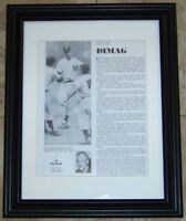 Joe DiMaggio Best Wishes Signed Autographed Baseball Magazine Photo JSA AH LOA!