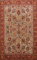 Antique Floral Tebriz Hand-knotted Area Rug Living Room Oriental Carpet 8x11 ft