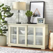 Storage Cabinet Trophy Credenza Sideboard Hutch Buffet Glass Front Stackable