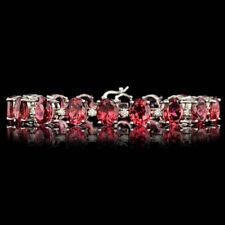 Certified Pink Tourmaline 34.00cttw and 1.40cttw Diamond 14KT Bracelet