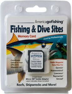 Central West - Sarasota to Pasco Counties Fishing & Dive Sites Memory Card - NEW