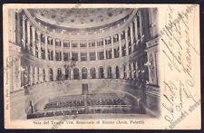 RIMINI CITTÀ 197 INTERNO TEATRO Cartolina viaggiata 1904