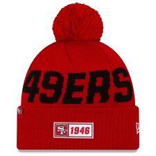 New Era NFL Football Sideline Official Sport Cuffed Road Knit Hat Pom Cap Hat