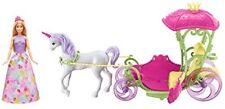 Barbie DYX31 Dreamtopia Sweetville Kutsche Einhorn - Pink