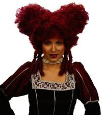 Ladies Baroque Noblewoman Burgundy Wig for Hair Accessory Fancy Dress