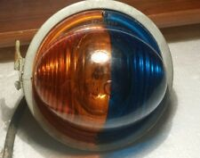 Vintage Bubble Front Blue and Amber Light Steampunk