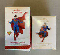 2 SUPERMAN HALLMARK KEEPSAKE CHRISTMAS TREE ORNAMENT