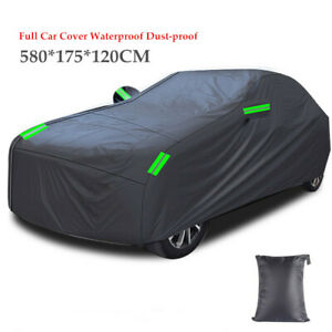 Full Car Cover Waterproof Dust-proof UV Resistant  All Weather Protection  Black