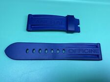 Genuine Officine Panerai Blue Rubber Strap Made In Italy 24mm Lug 22mm Buckle