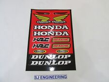 HONDA CR BRAKING RACING DUNLOP DECAL MX STICKER GRAPHICS HRC MAX AIR CEMOTO  569