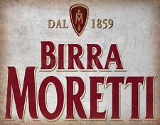 BIRRA MORETTI ITALIAN BEER METAL TIN SIGN POSTER WALL PLAQUE