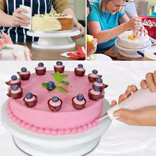 "11"" Revolving Rotating Cake Decorating Stand Swivel Turntable Cake Display Plate"