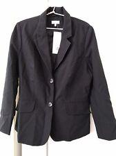 CAPTURE Black Long Sleeve Polyester Centre Button Blazer Jacket Label Size 16