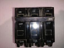 General Electric 3 Pole 20 Amp Bolt On Circuit Breaker