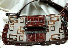 "Guess Handbag or Purse 10 x 5 "" Hangs 14 "" Magnetic closure Browns"
