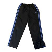 Adidas Track Pants Womans Size Medium Black And Blue