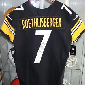 Ben Roethlisberger Pittsburgh Steelers Signed Nike Black Elite Football Jersey