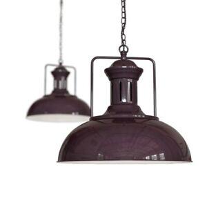 Mulberry Red Burgundy Vintage Kitchen Pendant Light - Regent - Soho Lighting