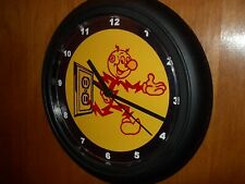 Reddy Kilowatt Electrician Electric Company Advertising Black Wall Clock Sign