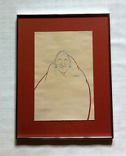 "BERT SEABOURN SIGNED LISTED ARTIST ""SOUTHWEST MAN"" WATERCOLOR INK PAINTING"
