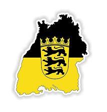 Baden-Wurttemberg Map Flag Sticker Silhouette for Bumper Helmet Fridge Laptop PC