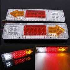 2 x 300mm*90mm LED TRUCK Electronic TRAILER STOP REAR TAIL LIGHTS LAMP 12V