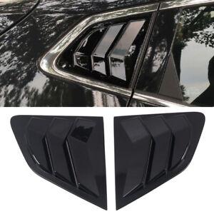 Glossy Black Rear Window Shutter Cover For Nissan Qashqai J11 Rogue Sport 15-20