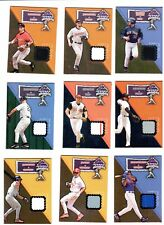 2002 Flair Jersey Heights Game Worn Jersey  COMPLETE set of 25 cards  Rare Set