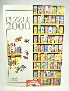 """Educa - """"Soft Cans"""" 2000 Piece Jigsaw Puzzle (19"""" x 53.5"""") Soft Drinks Soda Pop"""